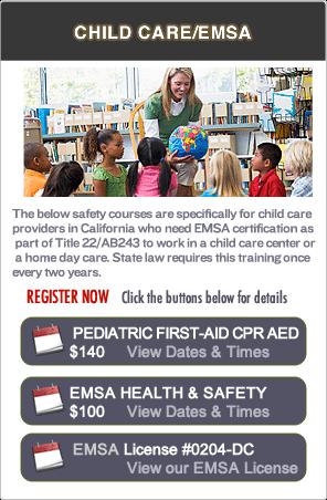 Pediatric First-aid EMSA Classes in Oakland