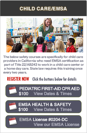 Pediatric First-aid EMSA Classes in Oakland